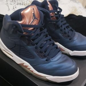 Jordan 5's Metallic blue and copper (rare)